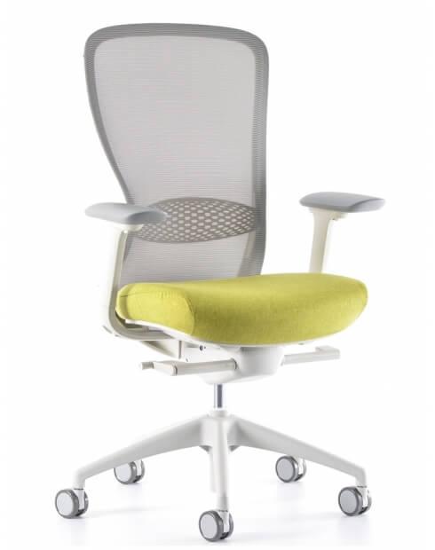 VX1 White Medium Back Ergonomic Chair