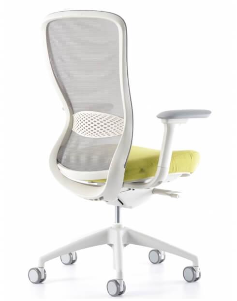 Side - VX1 White Medium Back Ergonomic Chair