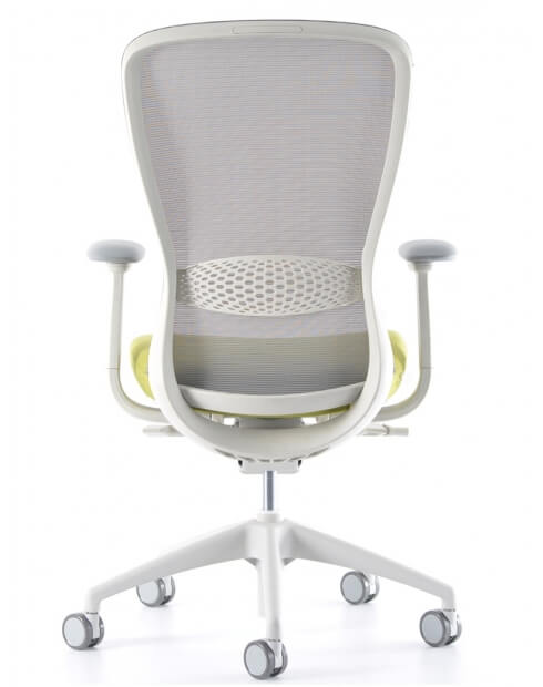 Back - VX1 White Medium Back Ergonomic Chair