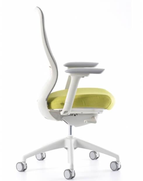 Side2 - VX1 White Medium Back Ergonomic Chair