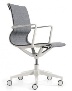 Matell White Task Chair