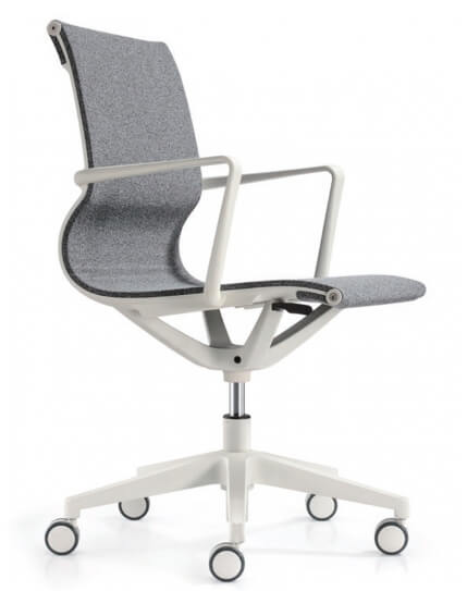 Matell White Task Chair