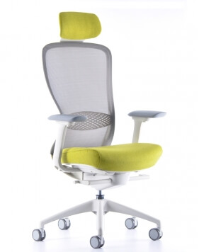 VX1 White Performance Ergonomic Chair