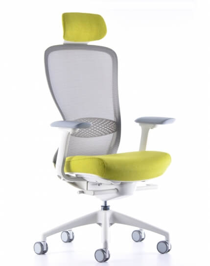 VX1 White Performance Ergonomic Chair