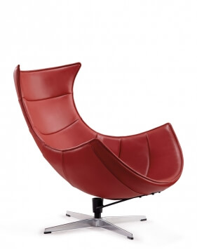 Lazy Red Leather Chair
