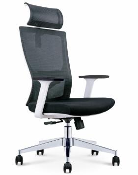 Mann White Ergonomic Executive Office Chair