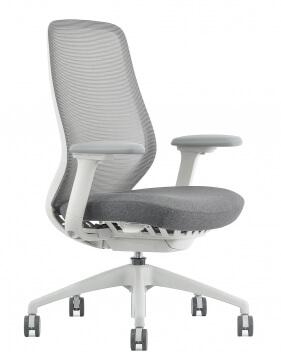 AX Performance Ergonomic White Frame Executive Chair