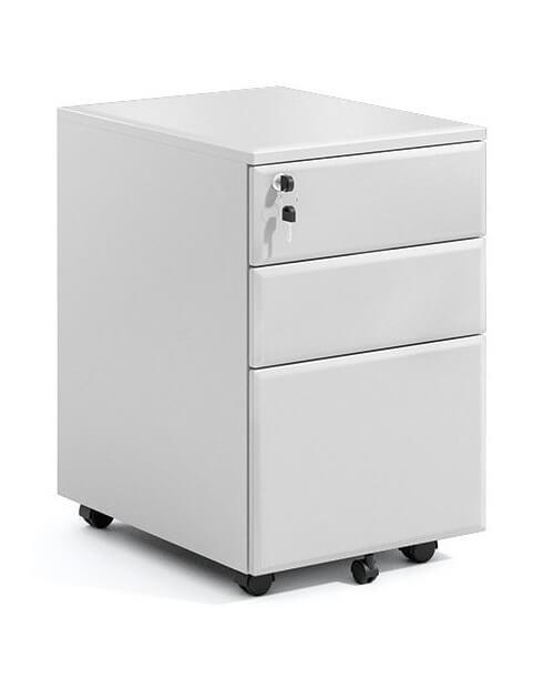 Steel 3-Drawer Filing and Stationary Mobile Pedestal