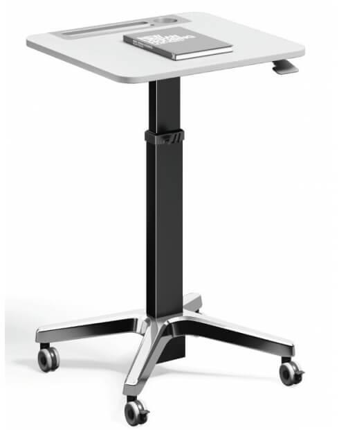 Black-Leo Minimalist Mobile Height Adjustable Table